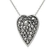 Suspicion Sterling Marcasite Heart Pendant with18 Chain - J112494