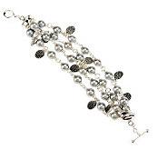 Michael Dawkins Sterling Silver Cultured Pearl Multi-Strand 7-1/4 Bracelet - J268794