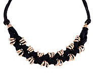 Bronze 18 Knotted Cord Station Necklace by Bronzo Italia - J286394