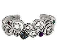 Carolyn Pollack Whirlwind Sterling Abalone Doublet Cuff - J287894