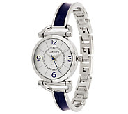 Liz Claiborne New York Enamel Bracelet Watch - J288894