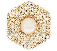 Linea by Louis DellOlio Pave Simulated Pearl Pin - J296894