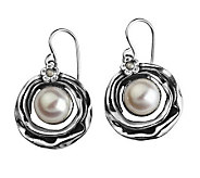 Or Paz Sterling Wave Border Cultured FreshwaterPearl Earrings - J297694