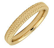 Simply Stacks Sterling 18K YellowGold-Plated 3.25mm Braid Rin - J298094