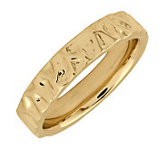 Simply Stacks Sterling 18K Yellow Gold-Plated Wave 4.25mm Ring - J298994
