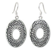 Novica Artisan Crafted Sterling Lotus ShieldDangle Earrings - J307694