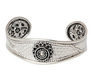 Novica Artisan Crafted Sterling Blossoming Beauty Cuff - J308194
