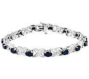 Sterling 7-1/2 Sapphire XO Bracelet - J310094