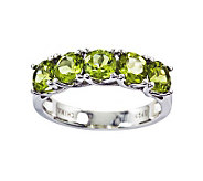 Sterling 2.75 cttw Peridot 5-Stone Ring - J311194