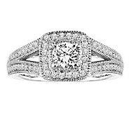 Affinity Diamond 7/8 cttw Round Cushion Shape Ring, 14K - J311394