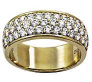 Diamonique Pave Band Ring, Sterling or 14K Clad - J312094