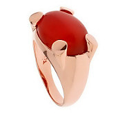 Bronzo Italia Bold Oval Gemstone Ring - J312294
