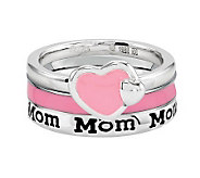 Simply Stacks Sterling Mom Ring Set - J312694