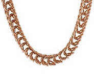 Bronzo Italia 20 Bold Polished Open Status Link Necklace - J312894