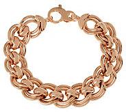 Bronzo Italia 8 Bold Fancy Double Curb Link Bracelet - J313794
