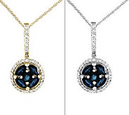 Gemstone & 1/6 cttw Diamond Round Pendant w/ 18 Chain, 14K - J313994