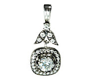 Diamonique 2.30 ct tw Sterling Square-Shaped Pendant - J315094