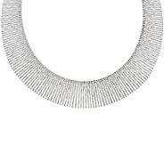 VicenzaSilver Sterling 20 Bold Graduated Cleopatra Omega Necklace, 51.8g - J317294