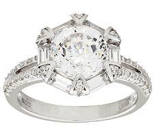 Epiphany Diamonique 100-Facet Fancy Halo Ring