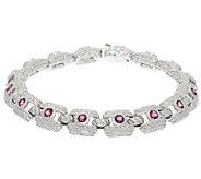 Judith Ripka Sterling 1.40 ct Pink Torumaline Bracelet 7-1/4 - J318094