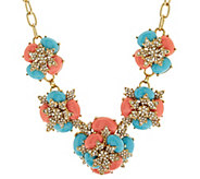Joan Rivers Jeweled Cabochon 18 Statement Necklace - J318394