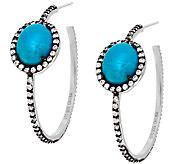 As Is Graziela Gems Sleeping Beauty Turquoise & Zircon Earrings - J319594