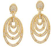 Judith Ripka Sterling & 14K Clad Diamonique Oval Earrings - J323194