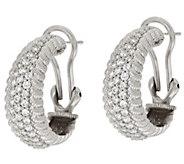 As Is Judith Ripka Sterling Verona Diamonique Hoop Earrings - J324494