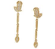 Judith Ripka Sterling & 14K Clad Leaf Line Earrings - J325294