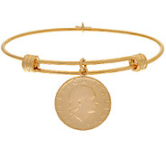 Bronzo Italia Expandable 200 Lire Coin Bangle - J325794