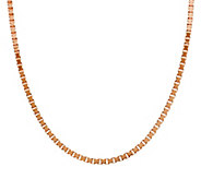 As Is Bronze 18 Polished Box Chain Necklace by Bronzo Italia - J327494