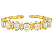 Judith Ripka Sterling or 14K Clad Diamonique Cuff Bracelet - J328294