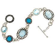 As Is Michael Dawkins Sterl. & 13.00 cttw Multi-Gemstone Bracelet - J333094