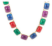 As Is Kenneth Jay Lanes Regal Cabochon Link Necklace - J333194