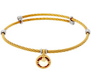 DeLatori Goldtone Cable Bracelet w/ Champagne Quartz Charm - J334394