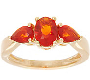 Oval & Pear Cut Red Fire Opal Ring, 14K Gold 0.90 cttw - J346094