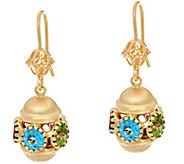 Arte d Oro 2.85 cttw Multi-gemstone Drop Earrings 18K Gold - J349094