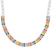 Colors of Sapphire Sterling 18 Necklace, 23.00 cts - J350094