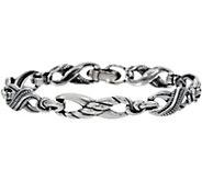 Ships 2/10 Carolyn Pollack Sterling Silver Avg. Infinity Bracelet, 21.5g - J354794