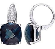 14K 20 cttw London Blue Topaz & 1/5 cttw Diamond Earrings - J377194