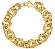 Italian Gold Bold Link Bracelet 14K, 8.7g - J377694