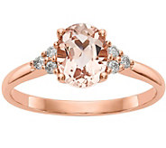 14K Morganite & Diamond Solitaire Ring - J378294