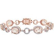 14K Gold 11.75 cttw Morganite & 1-1/2 ct Diamond Link Bracele - J378494