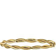 14K Polished & Textured Twist Bangle, 5.9g - J378694