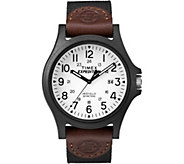 Timex Mens Expedition Acadia Brown and Black Strap Watch - J379394