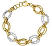 Italian Gold 8 Two-Tone Oval Link Bracelet 14K, 8.0g - J381594