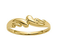 14K Gold Polished Swirl Dome Ring - J382094