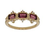 Judith Ripka 14K Gold Pink Tourmaline and Diamond Ring - J382394