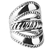 Carolyn Pollack Sterling Three-Row Ring - J383194