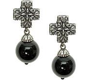 Elyse Ryan Sterling Gemstone Bead Cross Earrings - J383494
